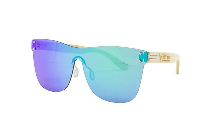 59 North Wheels - Okulary przeciwsłoneczne (Bez oprawek) / Niebiesko - zielone