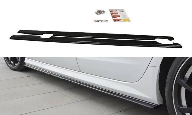Dokładki progów Maxton Audi A6 C7 S-Line/ S6 C7 Polift (carbon look)