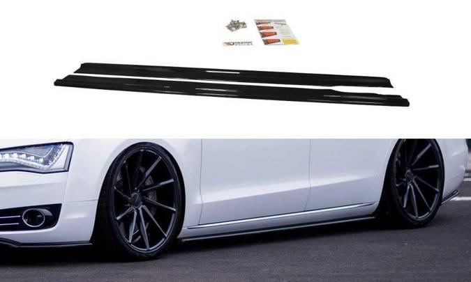 Dokładki progów Maxton Audi A8 D4 (czarny mat)