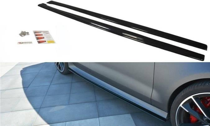 Dokładki progów Maxton Audi RS7 C7 FL (czarny połysk)