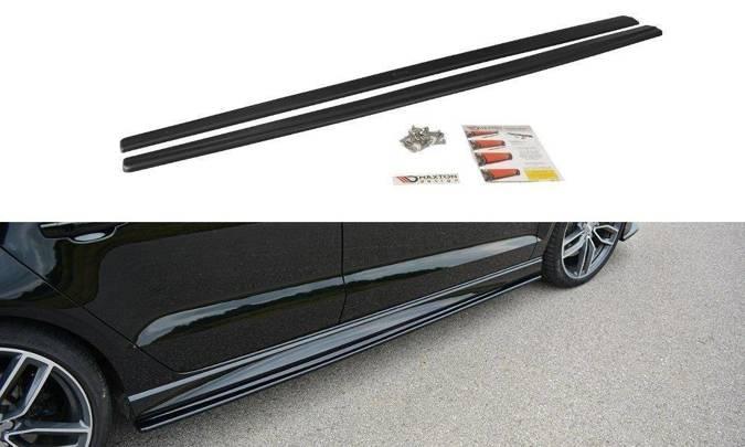 Dokładki progów Maxton Audi S3 / A3 S-Line 8V / 8V FL Sedan (czarny mat)