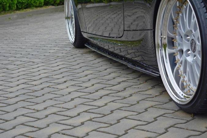 Dokładki progów Maxton BMW 3 E92 M-Pack Polift (czarny mat)