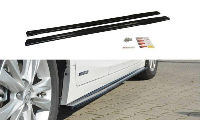 Dokładki progów Maxton Lexus CT MK1 Polift (czarny mat)