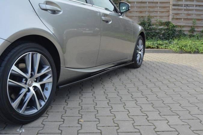 Dokładki progów Maxton Lexus IS MK3/ MK3 Polift (carbon look)