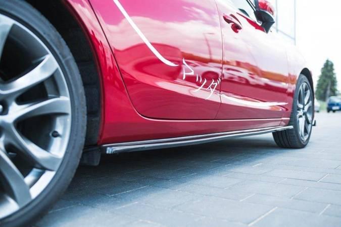 Dokładki progów Maxton Mazda 6 GJ (MK3) Polift (carbon look)