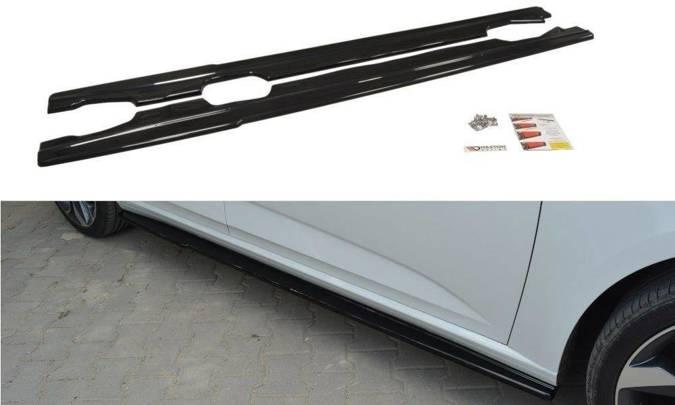Dokładki progów Maxton Renault Megane MK4 Hatchback (czarny mat)
