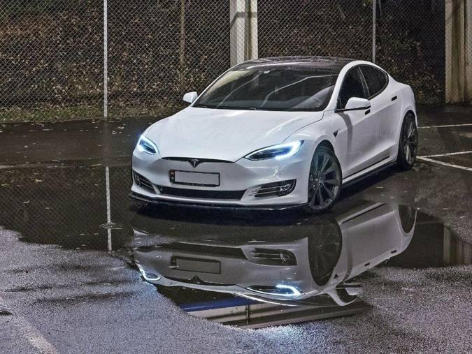 Dokładki progów Maxton Tesla Model S Polift (czarny mat)