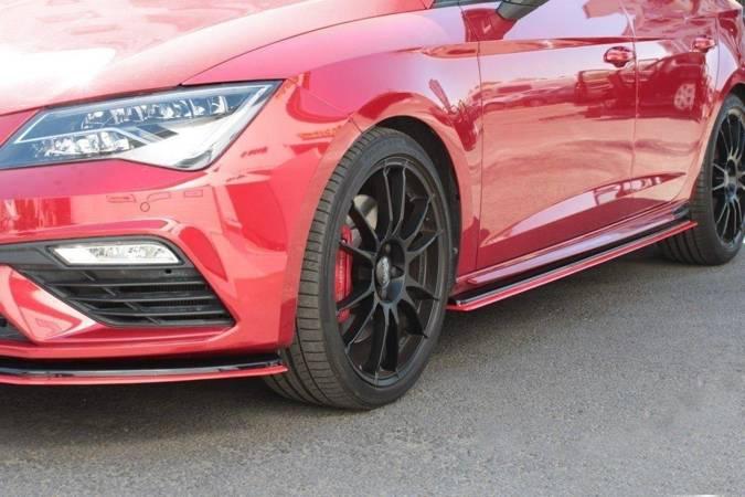 Dokładki progów Maxton V3 Seat Leon Cupra MK3 / FR Polift (carbon look)