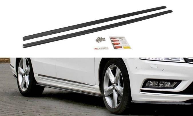Dokładki progów Maxton Volkswagen Passat B7 R-Line (czarny połysk)