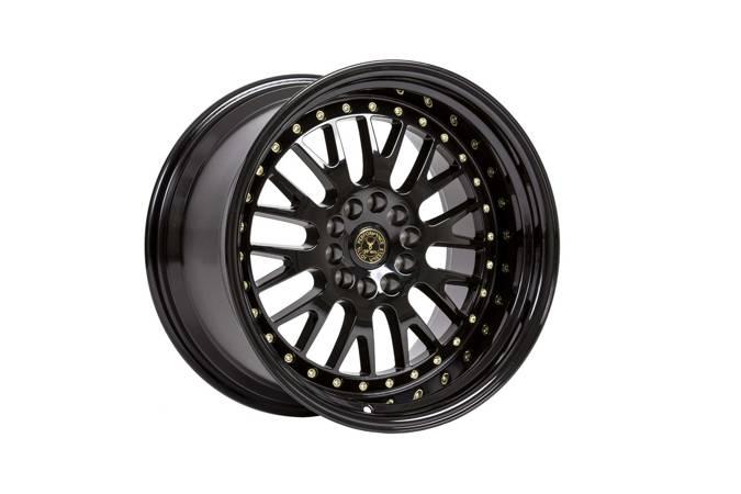 "Felgi aluminiowe 18"" 59 North Wheels D-003 18x11 ET15 5x114,3/120 Gloss black/gold rivets"