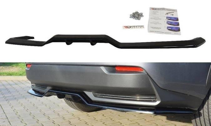 Splitter tylny srodkowy Maxton Lexus NX MK1 H (z dyfuzorem) (czarny mat)