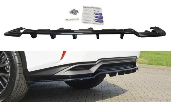 Splitter tylny srodkowy Maxton Lexus RX MK4 H (z dyfuzorem) (czarny połysk)