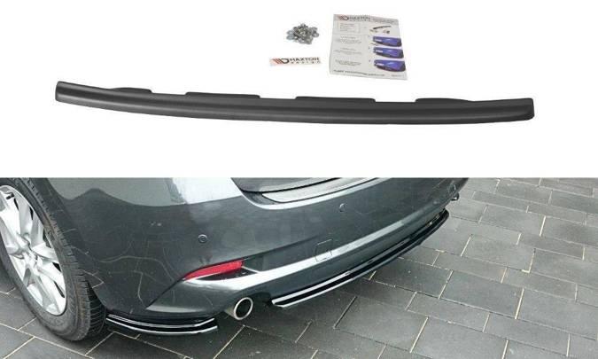 Splitter tylny srodkowy Maxton Mazda 3 BM (MK3) Polift (bez dyfuzora) (czarny połysk)