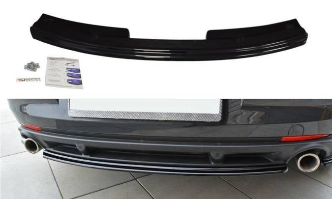Splitter tylny srodkowy Maxton Renault Laguna MK3 Coupe (czarny mat)