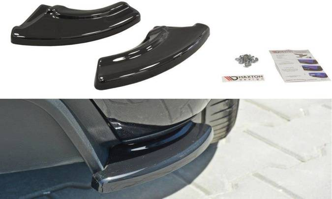 Splittery tylne boczne Maxton Fiat Punto Evo Abarth (czarny mat)